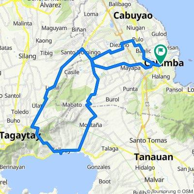 J.P. Rizal Avenue, Calamba City to J.P. Rizal Avenue, Calamba City