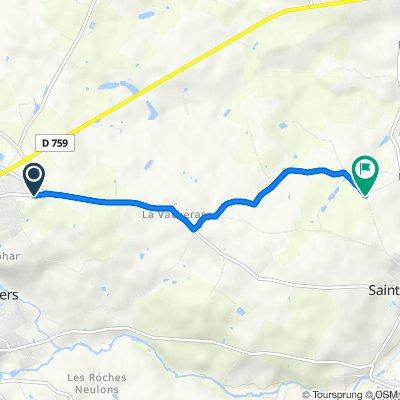 De Rue de l'Aumônerie 44, Nueil-les-Aubiers à Unnamed Road, Nueil-les-Aubiers