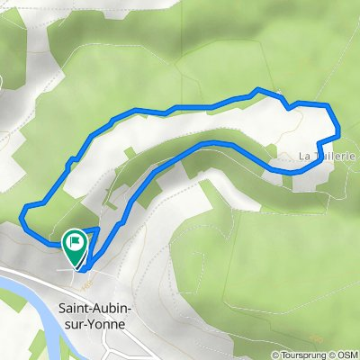 De 1 Chemin de la Ferrante, Saint-Aubin-sur-Yonne à 6 Chemin de la Ferrante, Saint-Aubin-sur-Yonne