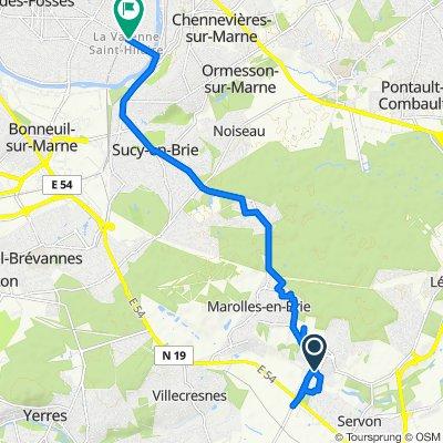 De 6quinquies Rue de l'Église, Santeny à 77 Avenue du Bac, Saint-Maur-des-Fossés