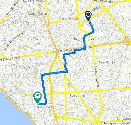 De Puerto Ilave 188, Cercado de Lima a Avenida José Pardo 501, Miraflores