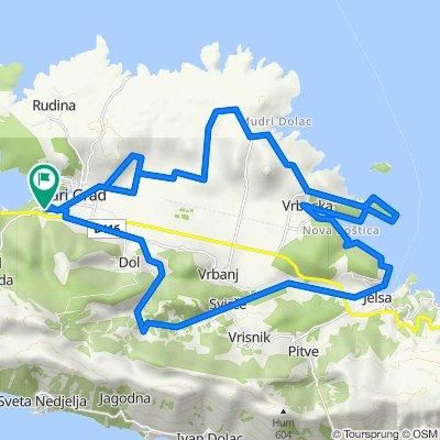 Route 13 Stari Grad - Dol - Jelsa - Soline - Hora