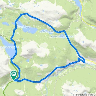 Randsverk-Flatningen-Bringsfjellet-Heidal-Randsverk