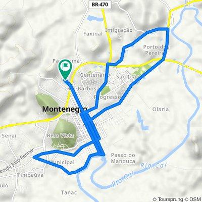De Rua Boa Vista, 467, Montenegro a Rua Boa Vista, 457, Montenegro