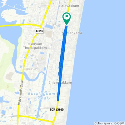 Route from Doctor Ambedkar Street 4/19, Chennai