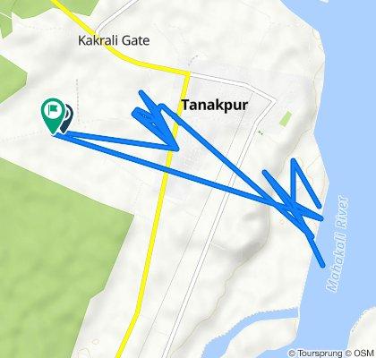 Unnamed Road, Tanakpur to Unnamed Road, Tanakpur