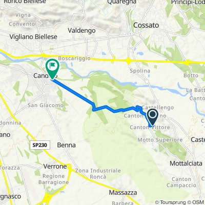 Da Strada della Collina, Mottalciata a Via Castellengo 31a, Candelo