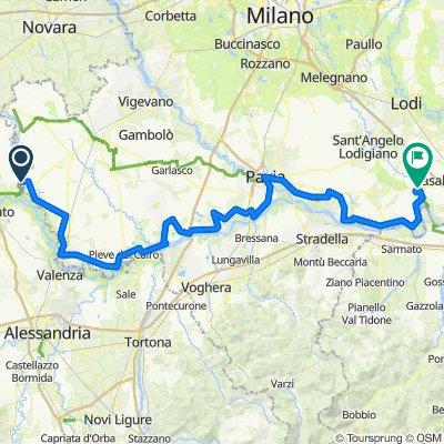 River Po cycle route (Pavia province north bank) Ciclovia del Po tratto pavese nord riva sinistra