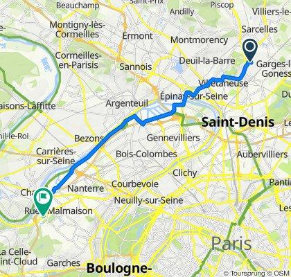 De 6 Allée Albert Roussel, Sarcelles à 278bis Avenue Napoléon Bonaparte, Rueil-Malmaison