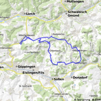 Hohenstaufen Ottenbach Rehgebirge Kaltes Feld Stuifen