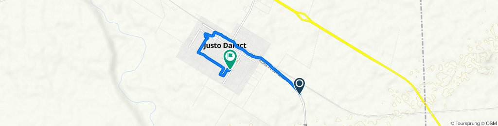 De Ruta Provincial 14 a Juan Ceballos, Justo Daract