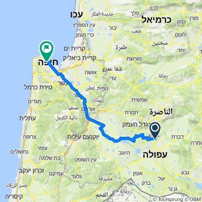 כפר גדעון לחיפה