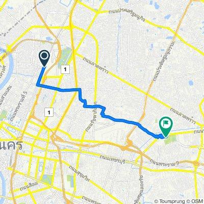 Route from Soi Rotfai 1, Bangkok to Bike Lane