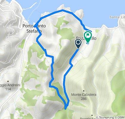 Da Via delle Fornaci, Monte Argentario a Via Sebastiano Caboto 5, Monte Argentario