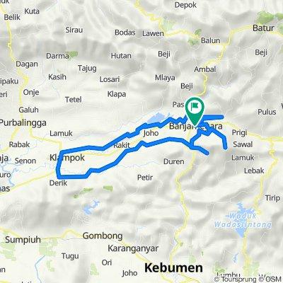 Jalan Jenderal Ahmad Yani 18, Kecamatan Banjarnegara to Jalan K.H. Ahmad Dahlan 16, Kecamatan Banjarnegara