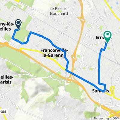 De Chemin de Montigny au Plessis-Bouchard, Franconville à 25 Rue de la Halte, Ermont