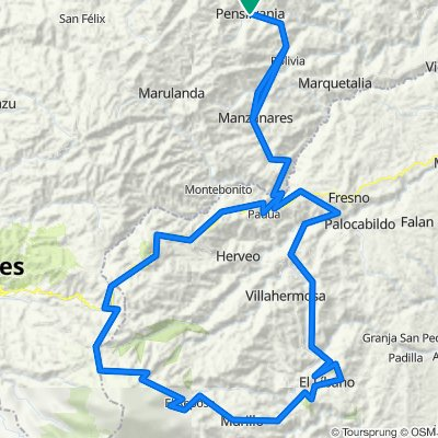 ruta: Pensilvania - Fresno - Líbano- Murillo- alto de letras - Manzanares - Pensilvania🏔️excelente ruta