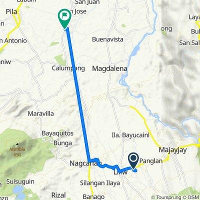 Liliw-Majayjay Road to Sta. Cruz-Calumpang Road, Pila