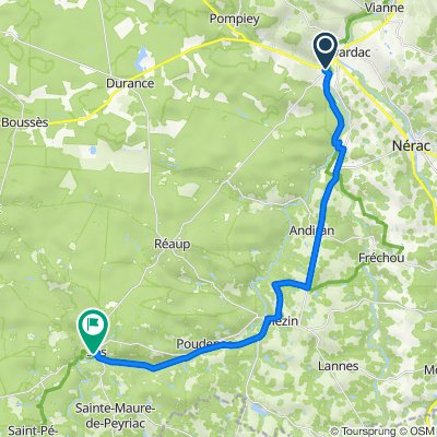 sos to lavardac alternative route