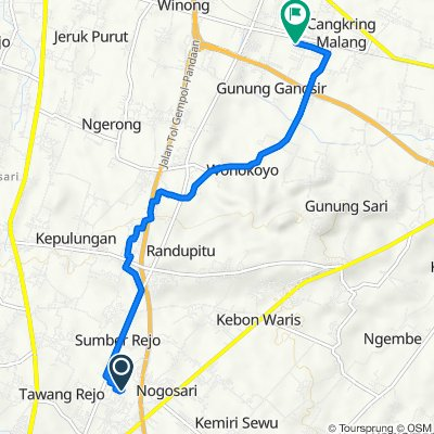 Unnamed Road, Kecamatan Pandaan to Jalan Makam, Kecamatan Beji