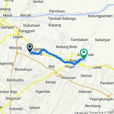 Jalan Makam, Kecamatan Beji to Perumahan Permata Asri J-1, Kecamatan Bangil