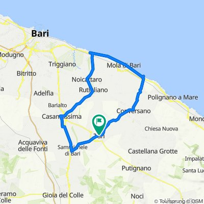Da Via Bernardino Ferrieri 4, Turi a Via Cavour 19–23, Turi