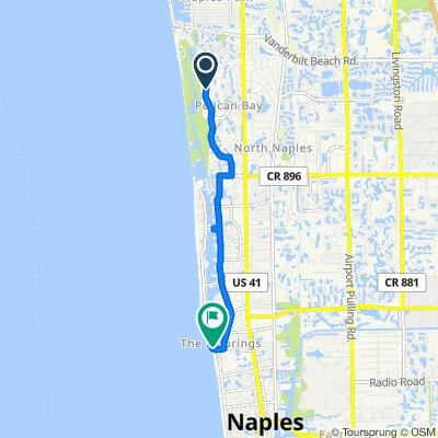 7065 Pelican Bay Blvd, Naples to 1301 Gulf Shore Blvd N, Naples