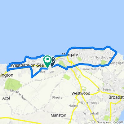 44 Westfield Road, Margate to 8 Coronation Crescent, Margate