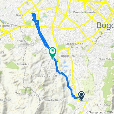 De Carrera 2 Este 81-88, Bogotá a Carrera 18T 64-54, Bogotá