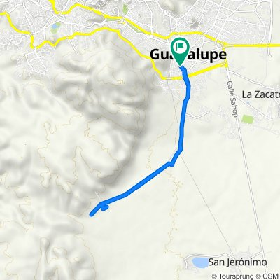 De Calle Justo Sierra 9B, Guadalupe a Calle Justo Sierra 9B, Guadalupe