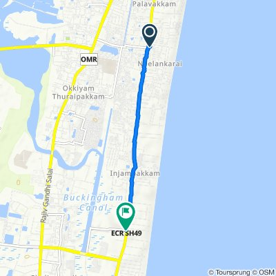 Route from Doctor Ambedkar Street 4/18, Chennai