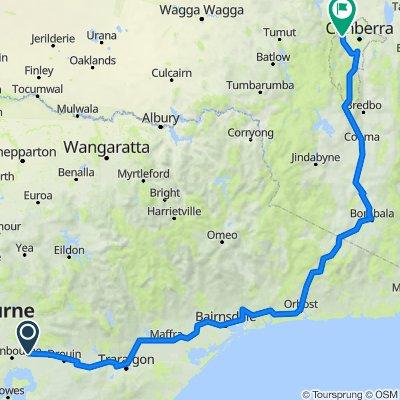 Melbourne - Canberra - Gippsland rail trails