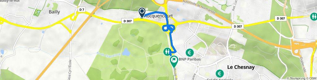Route from Rue de la Sabretache 31, Le Chesnay-Rocquencourt