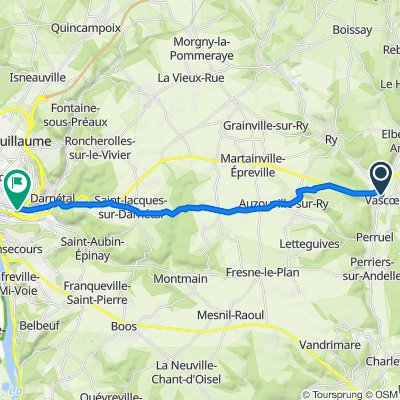 Route from Rue Jules Michelet 8, Vascœuil
