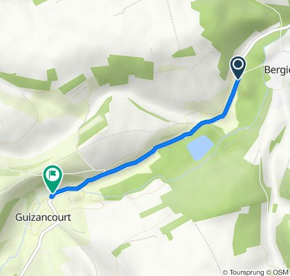 Route from D94, Bergicourt