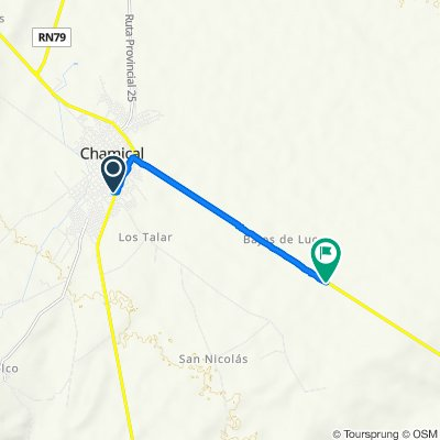 De Ruta Nacional 79 239, Chamical a Ruta Nacional 38