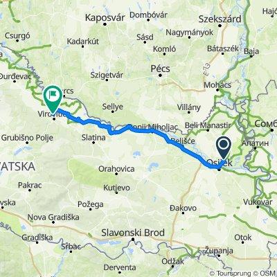 0045a Kroatien: Bilje - Donji Miholjac - Vitovitica (2/3 Et)