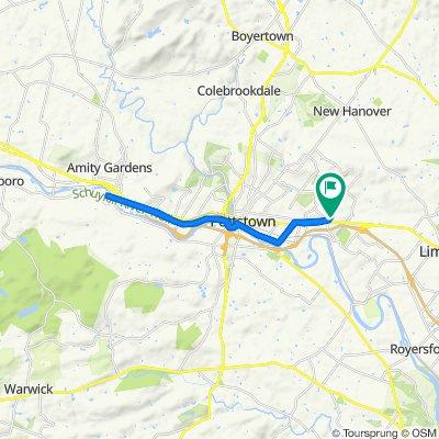319 Hause Ave, Pottstown to 2319 King St, Pottstown
