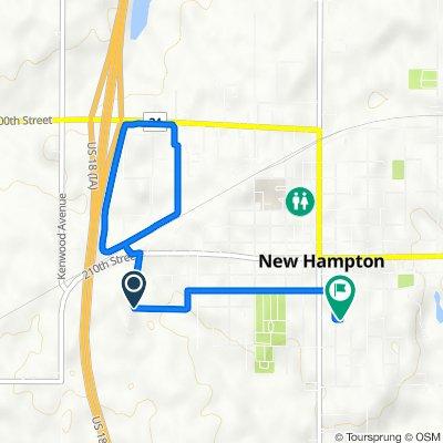 210th Street 2130, New Hampton to South Walnut Avenue 238, New Hampton