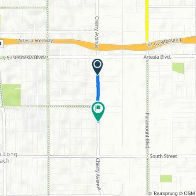 6449 Saint Louis Ave, Long Beach to 6114 Cherry Ave, Long Beach