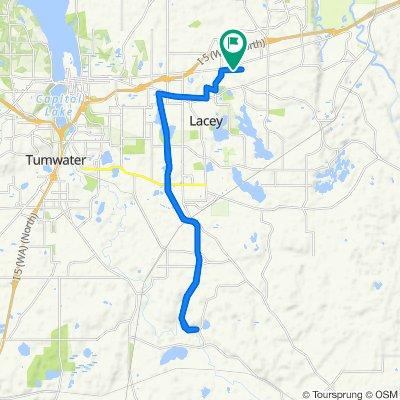 Husky Way Southeast 6910, Lacey to Husky Way Southeast 6910, Lacey