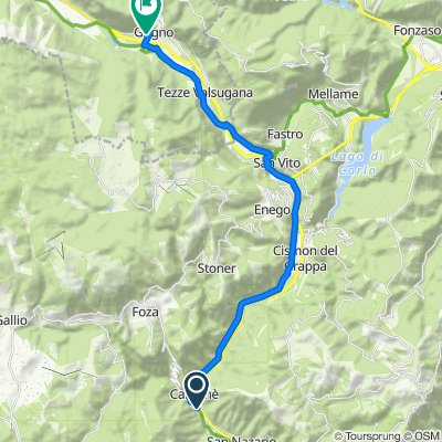 Da Via Londa 15, Valbrenta a Via Vittorio Emanuele 176, Grigno