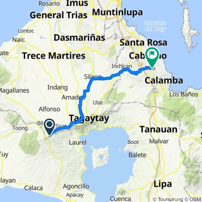 Tagaytay - Nasugbu Highway, Alfonso to Unnamed Road, Cabuyao