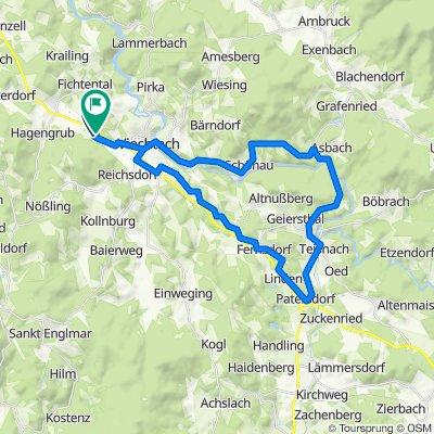 Viechtach Regental-Radweg 39km