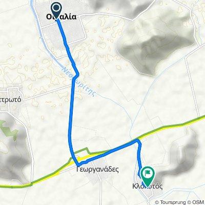 25ης Μαρτίου 11, Οιχαλία to Unnamed Road, Klokotos
