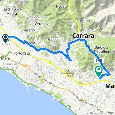 Da Via Fontanella 3, Colombiera a Via Castagnara 63, Massa