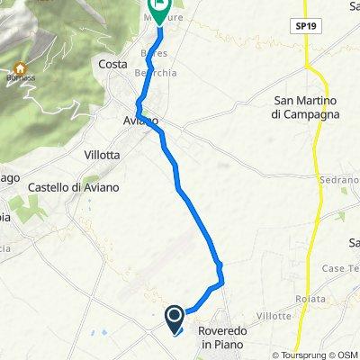 Da Roveredo in piano a Via Ceros 1A, Castello d'Aviano