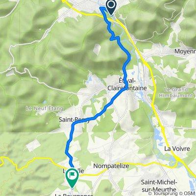 De Promenade de la Pierre d'Appel, Raon-l'Étape à 463 Rue du Moulin, La Bourgonce