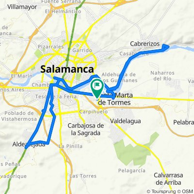 De Avenida de Asturias, 32, Santa Marta de Tormes a Avenida de Asturias, 32, Santa Marta de Tormes
