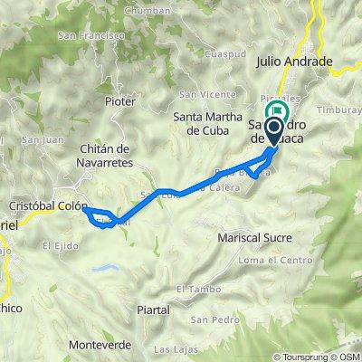 De Carretera Panamericana, Cantón San Pedro de Huaca a Carretera Panamericana, Cantón San Pedro de Huaca